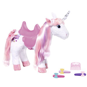 Baby Born; unicorn, horse, doll accessories, unicorn with function, magical, 43 cm