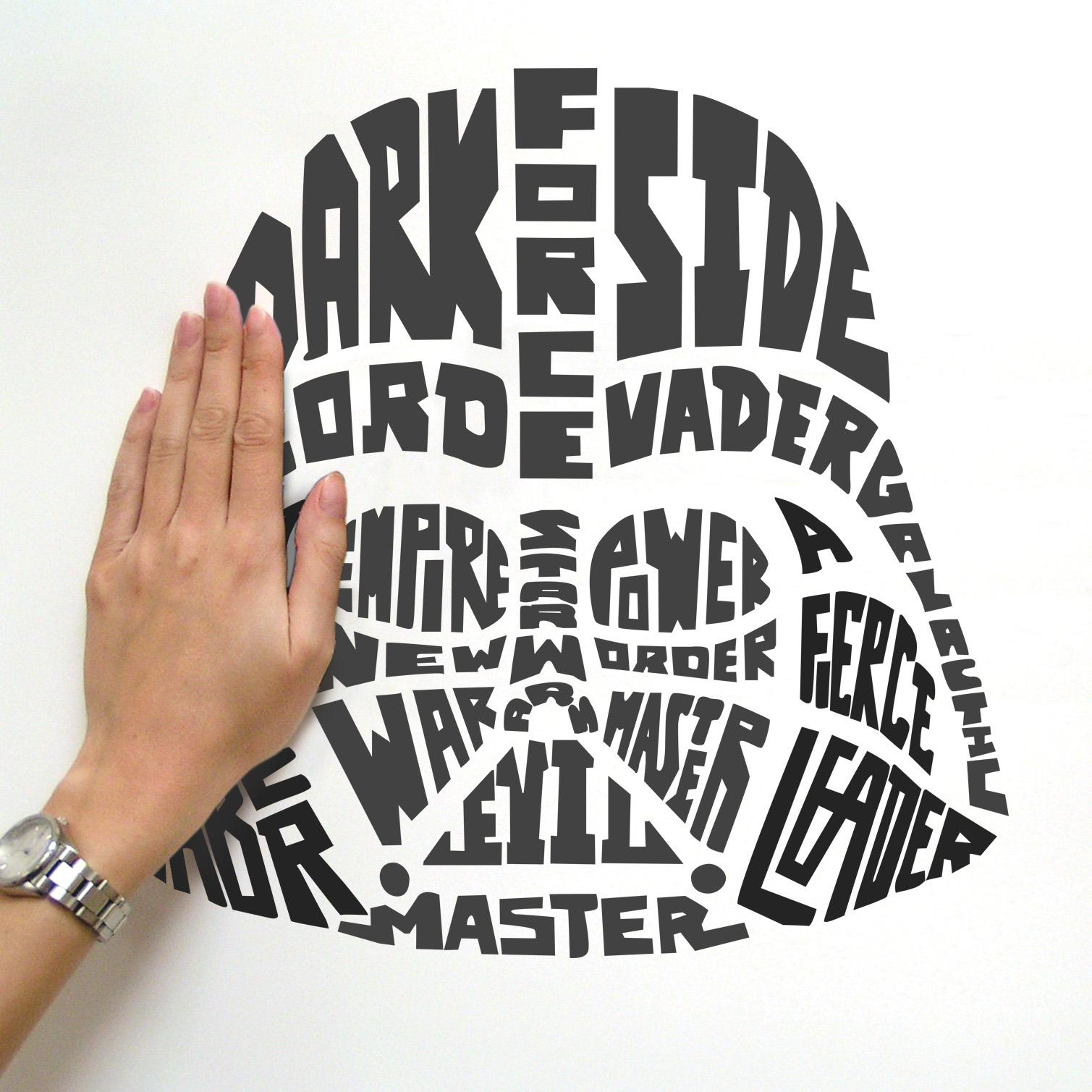 Roommates Star Wars Typographic Darth Vader Peel And Stick