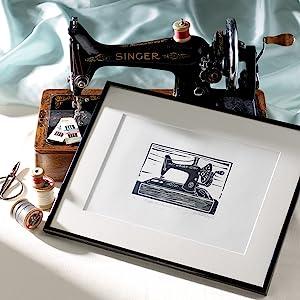 photo, print, sewing machine, singer, old fashion, linoprint, vintage, retro, cool