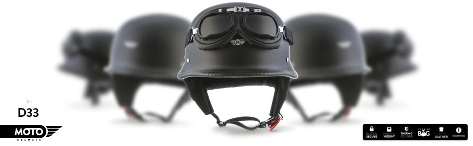 "grey-white Moto D33-Set /""Army Snow/"" jet helmet 55 cm - 64 cm chopper motorbike helmet brain cap bobber half shells retro scooter helmet for scooter or moped size: S-XXL"
