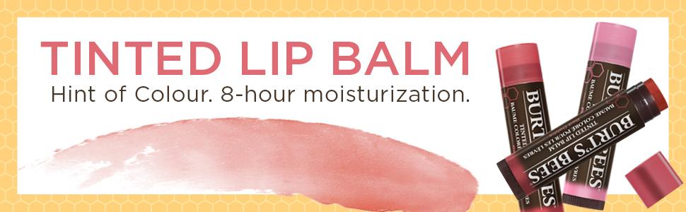 burt's bees, lip balm, lip shine, lip colour, lip care, nivea, eos, tinted lip balm