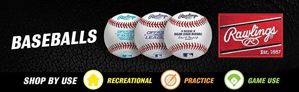 639c79ee Amazon.com : Rawlings Official League Recreational Use Baseballs ...
