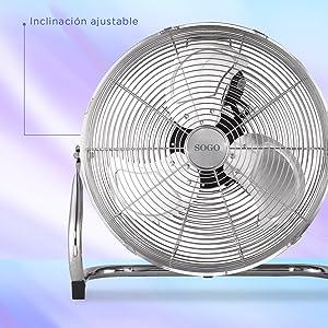 Sogo Ventilador Industrial Power fan de 110W, Diametro