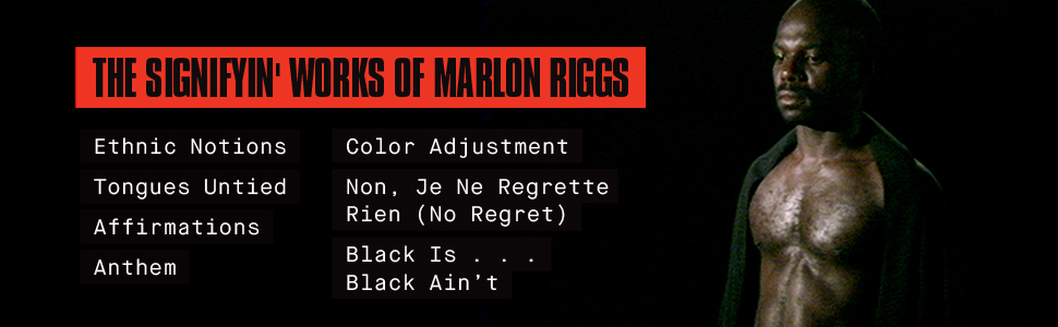 Marlon Riggs title banner with the list of films in the set