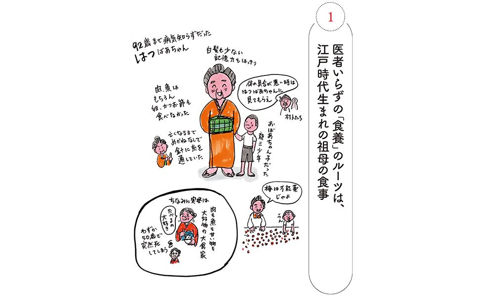 医者知らずの「食養」のルーツは江戸時代生まれの祖母の食事