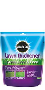 Miracle-Gro Lawn Thickener Grass Seed & Feed