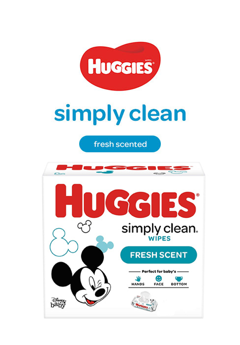 Simply Clean Fresh Scented Baby Wipes