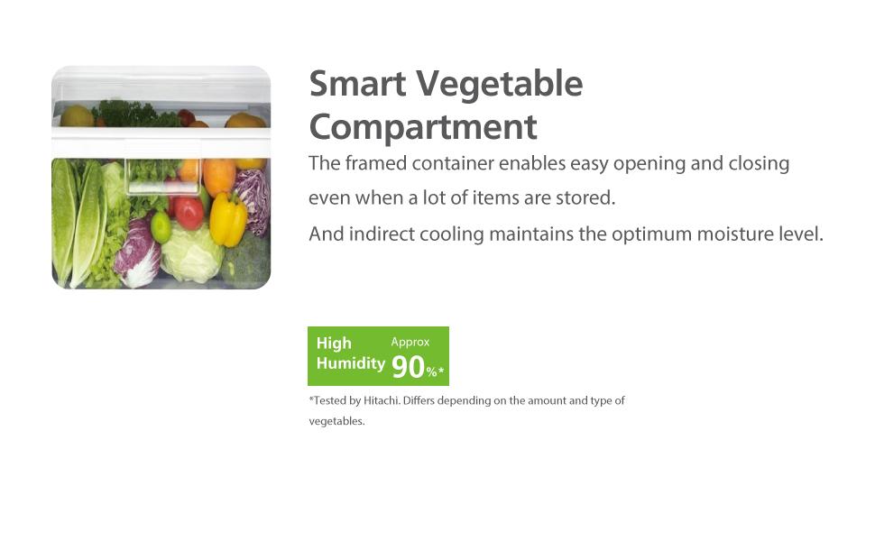 Hitachi Smart Vegetable Compartment Hitachi Refrigerator, 2 Door Refrigerator , refridgerator