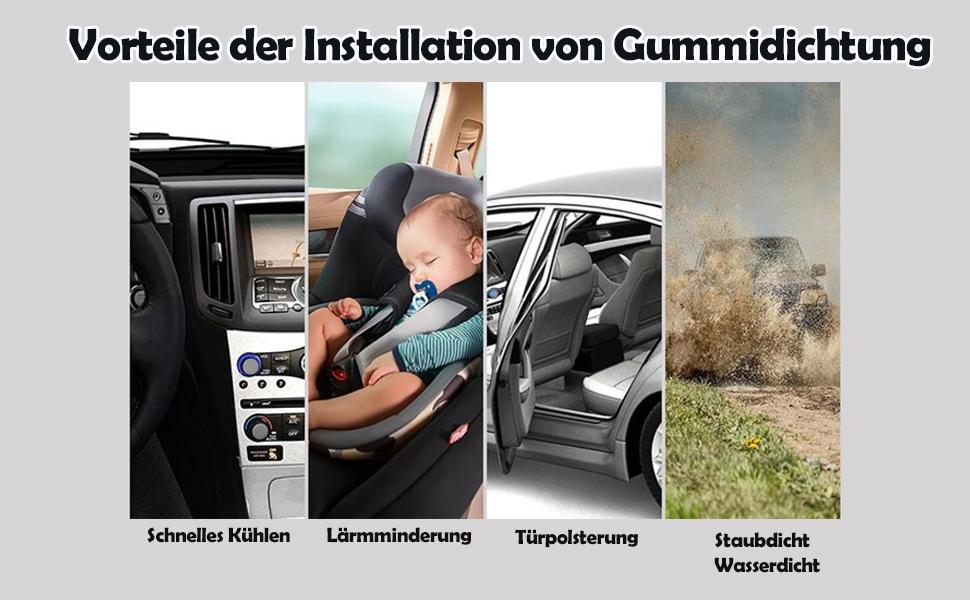 Fafada 4m 12 13mm Autotür Türdichtung Gummidichtung Türdichtung Autotür Gummiprofil Kantenschutz D Förmig Schwarz Auto