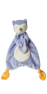 purple owl lovey soft toy
