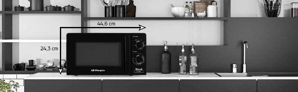 Orbegozo MI 2117 - Microondas con 20 litros de capacidad, 6 niveles de funcionamiento, temporizador hasta 30 minutos, 700 W de potencia, negro: Amazon.es: Hogar