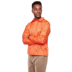 nylon coach's jacket water resistant snap front