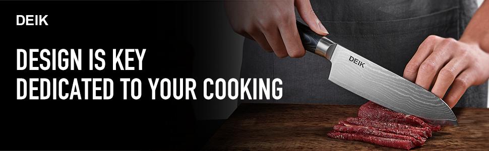 Deik Damascus Chef Knife.