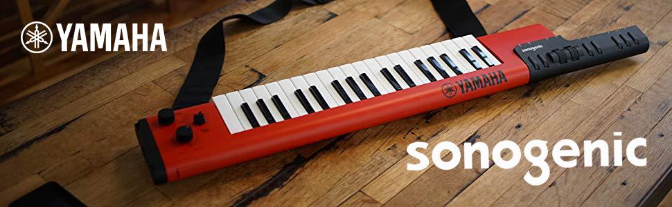 Yamaha Sonogenic SHS-500 keytar - Teclado digital con función JAM, Audio  USB y MIDI Bluetooth, color rojo: Amazon.es: Instrumentos musicales