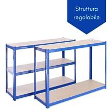 scaffali con struttura regolable