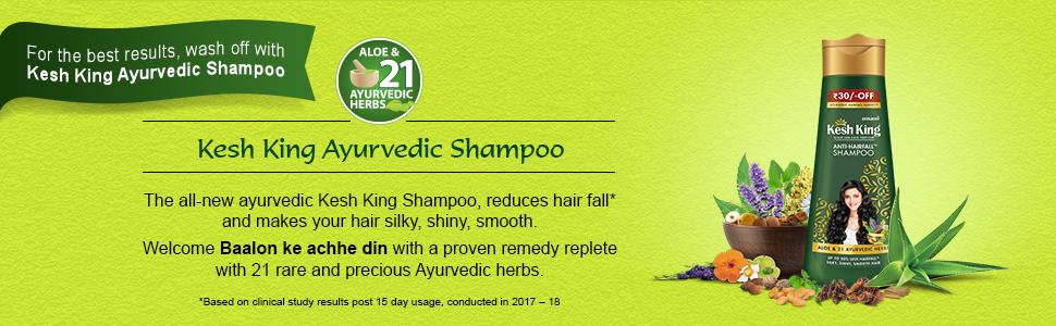 Ayurvedic shampoo, anti hair-fall shampoo, hair fall shampoo, kesh king shampoo, shampoo
