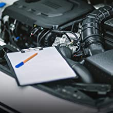 checklist, car repair, radiator, replacement, engine