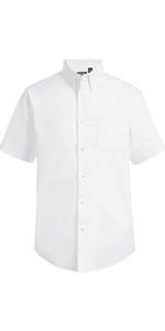 WHITE SHORT SLEEVE SHIRT; short sleve boy shirt; camisa manga corta; summer shirt; short sleeves