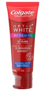 optic white, whitening toothpaste
