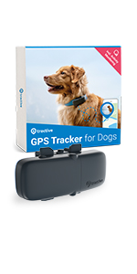 Tractive GPS Dog tracker and activity monitor dogs safety location tracking