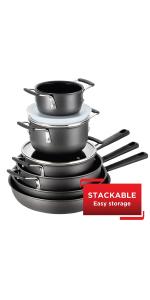 Stackable cookware set