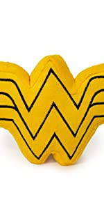Wonder Woman W Logo Plush Chew Squeaky Toy Dog Pet Justice League Diana Prince Princess Amazonian
