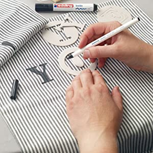 edding Textilstift Anwendung
