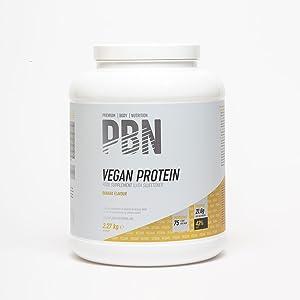 PBN - Premium Body Nutrition PBN - Bote de proteínas para veganos, 2.27 kg (sabor plátano)