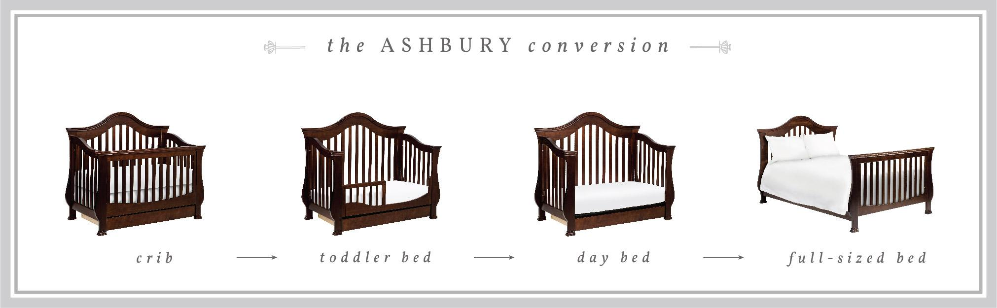 Amazon Com Million Dollar Baby Classic Ashbury 4 In 1 Convertible Crib With Toddler Bed
