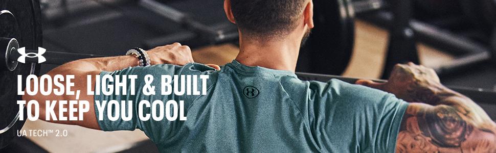 Under Armour Homme Tech 2.0 T shirt UA HeatGear X RAY Training Gym Tee