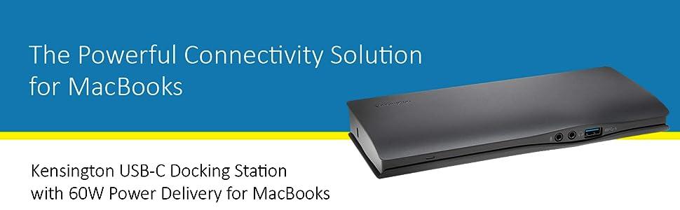 Kensington USB-C MacBook Power Docking Station w//  4K Ultra HD Resolution