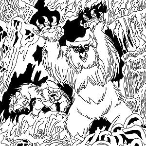 Todd James, Owlbears, coloring, colored pencils, D&D art
