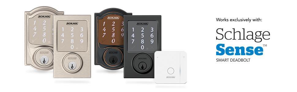 Schlage Br400 Sense Wi Fi Adapter White Doorknobs