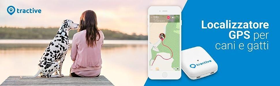 Tractive GPS Tracker, Localizzatore GPS per animali Colore bianco