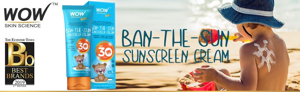 WOW Skin Science Kids Ban-the-Sun Sunscreen Cream