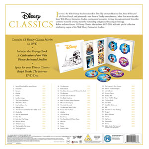 disney classics 55 disk dvd movie collection