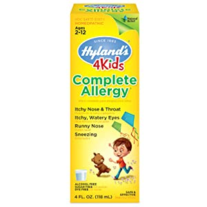 hylands complete allergy syrup cold and cough allergy relief