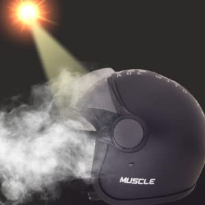 Sepia Muscle Rider Open Face Helmet (Matt Black, M to L)