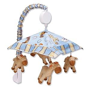 Cowboy mobile, musical mobile, crib bedding, nursery decor