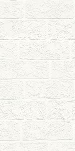 Wood and Stone behang steenlook, natuur, realistisch, landhuis, modern, crème, wit