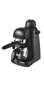 Team Kalorik Máquina de café expreso, Jarra de Vidrio, Hasta 4 tazas, 800 W, Negro, TKG EXP 1000: Amazon.es: Hogar