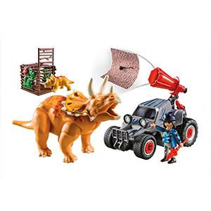 Triceratops, dreihorn, Auto, Dinos,