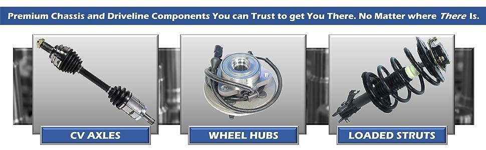 GSP CV Axle Wheel Hub Loaded Strut Premium Chassis Driveline Components