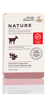 Nature by Canus, Fresh Canadian Goat Milk Pure Vegetal Base Soap, Shea Butter ...