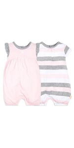 Burt's Bees Baby Romper Jumpsuit Organic Cotton Clothing Sleeper PJs Pajamas