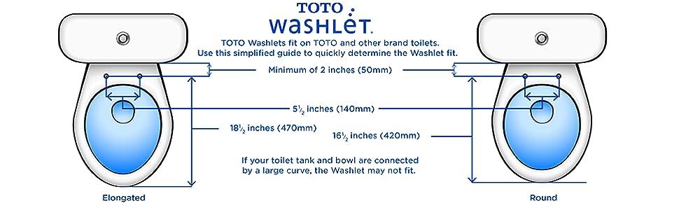 toto washlet fit chart for bidet toilet seats with tanks - Toto Toilet Seats