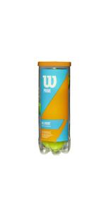 Wilson Tour Clay Germany Pelotas de tenis tubo con 4 pelotas para tierra batida amarillo