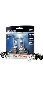 sylvania, silverstar, white, bulbs, headlights