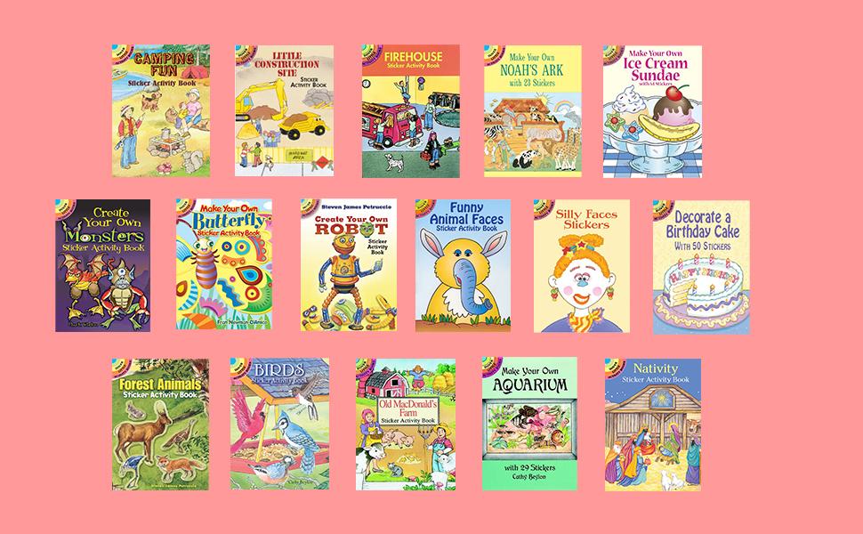 Little Activity Sticker Activity Books