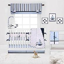 Bacati - Little Sailor Blue/Navy Bedding Collection